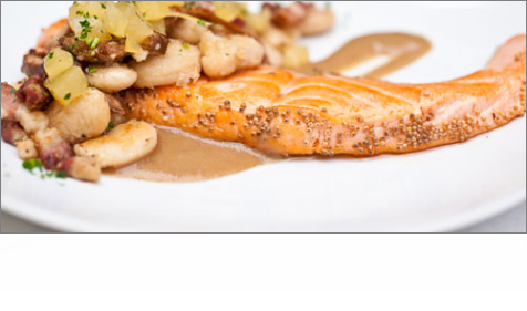 Salmon with Chanterelles and Chestnuts